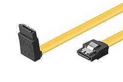 27bffc51d Kabel datový SATA 6 Gb/s, lomený nahoru, západky, 0,3m